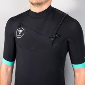 Vissla Mens 2mm 7 Seas Short Sleeved (Black) Wetsuit