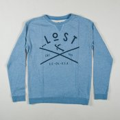 Lost Typo Sweater (Heather Blue)