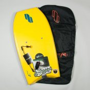 Hydro Z-Board, Bag & Leash Package (Yellow)
