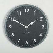 Ashortwalk Recycled Round Wall Clock (Black)